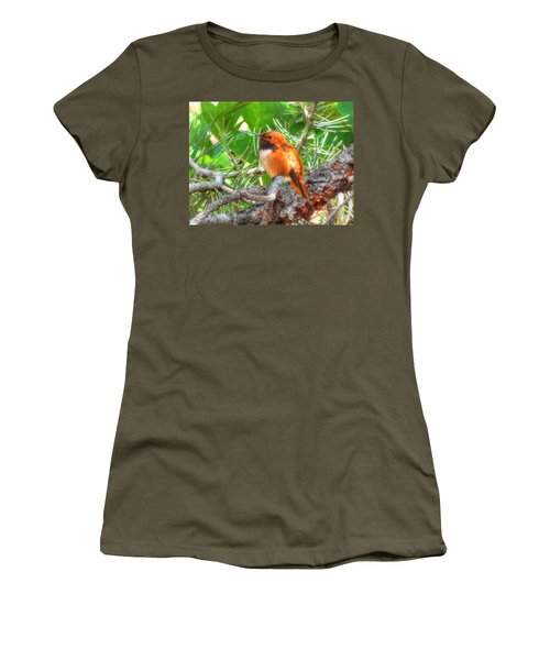 Women's T-Shirt (Junior Cut) featuring the photograph Redheaded Hummingbird II by Lanita Williams