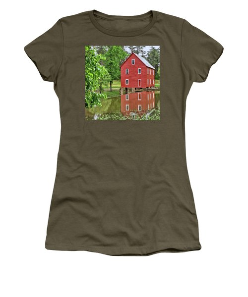 Reflections Of A Retired Grist Mill - Square Women's T-Shirt