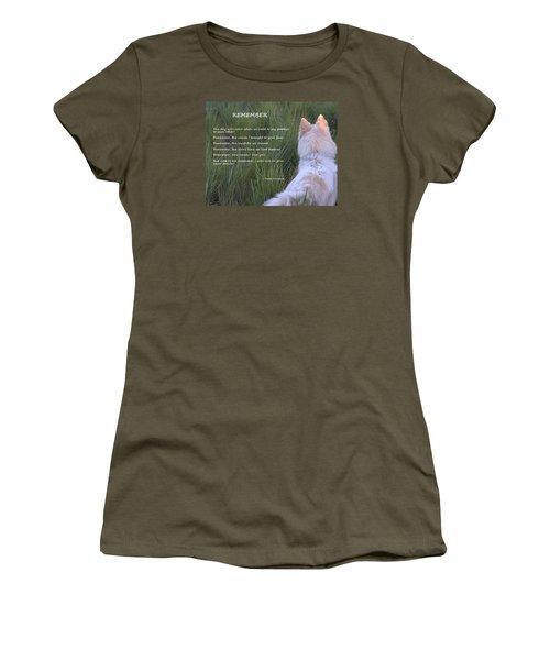 Remember Women's T-Shirt (Junior Cut) by Fiona Kennard