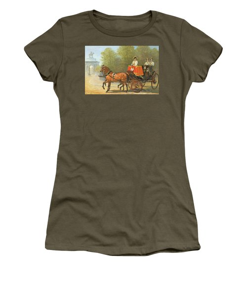 Returning From Her Majestys Drawing Room Women's T-Shirt (Junior Cut) by Alfred Corbould