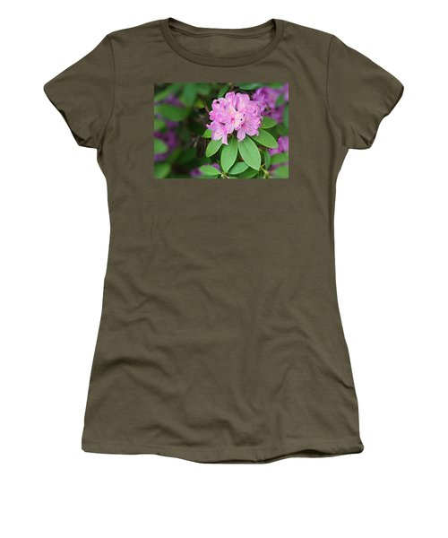 Rhododendron Women's T-Shirt (Junior Cut) by Kristin Elmquist