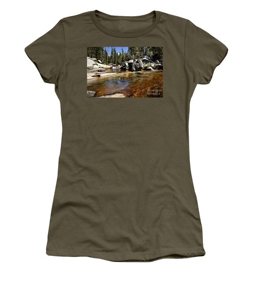 River Flows Women's T-Shirt (Junior Cut) by David Millenheft