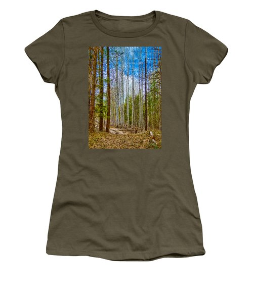 River Run Trail At Arrowleaf Women's T-Shirt (Athletic Fit)