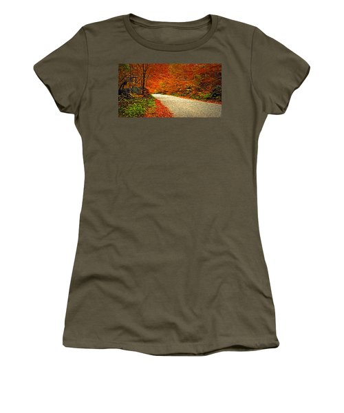 Women's T-Shirt (Junior Cut) featuring the photograph Road To Nowhere by Bill Howard