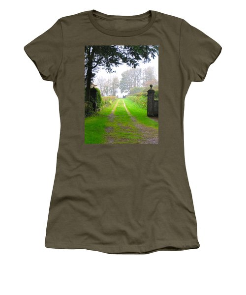 Women's T-Shirt (Junior Cut) featuring the photograph Road To Nowhere by Suzanne Oesterling