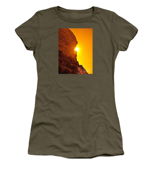 Rock Eclipse  Women's T-Shirt (Athletic Fit)