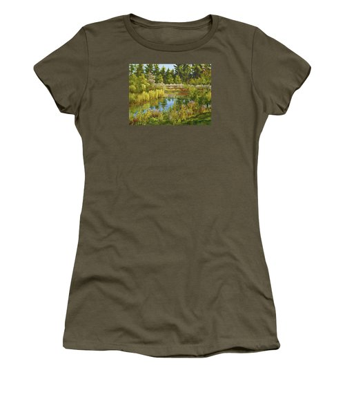 Rock Valley Pond Rockford Il Women's T-Shirt (Athletic Fit)