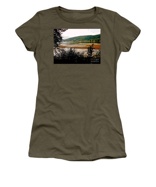Women's T-Shirt (Junior Cut) featuring the photograph Rocky Point Port Moody by Sher Nasser
