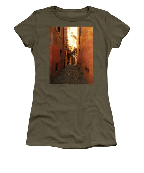 Women's T-Shirt (Junior Cut) featuring the photograph Romano Cartolina by Micki Findlay