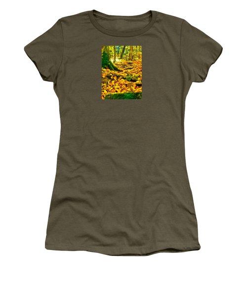 Root Steps Women's T-Shirt (Junior Cut) by Zafer Gurel