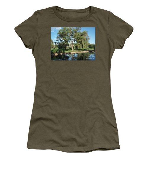 Women's T-Shirt (Junior Cut) featuring the photograph Rose Garden  by Jeannie Rhode