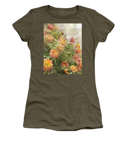Rose Potpourri Women's T-Shirt (Athletic Fit)