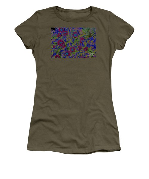 Women's T-Shirt (Junior Cut) featuring the photograph Roses By Jrr by First Star Art