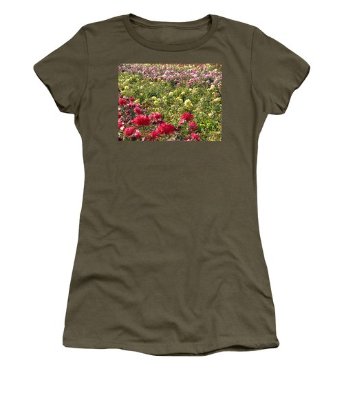 Women's T-Shirt (Junior Cut) featuring the photograph Roses Roses Roses by Laurel Powell