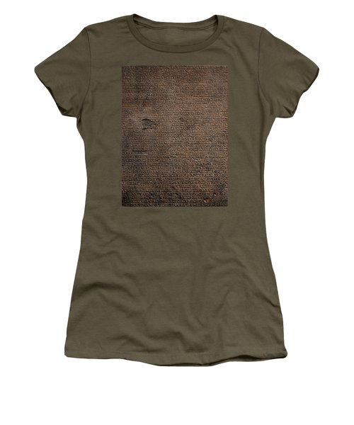 Rosetta Stone Texture Women's T-Shirt (Athletic Fit)