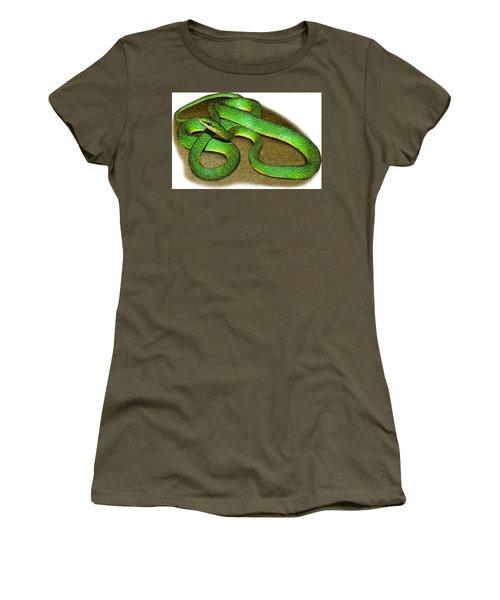 Rough Green Snake, Illustration Women's T-Shirt