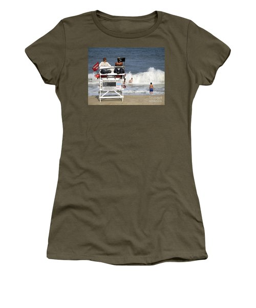 Rough Water At Bethany Beach In Delaware  Women's T-Shirt