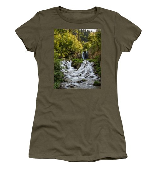 Roughlock Falls South Dakota Women's T-Shirt (Junior Cut) by Patti Deters