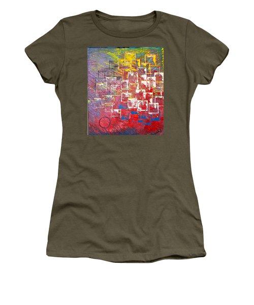 Round Peg Women's T-Shirt (Junior Cut) by George Riney