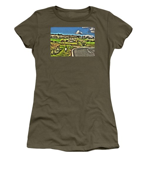 Women's T-Shirt (Junior Cut) featuring the photograph Round The Bend by Doc Braham