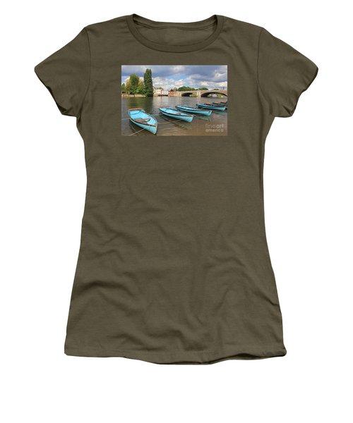 Rowing Boats At Hampton Court Women's T-Shirt