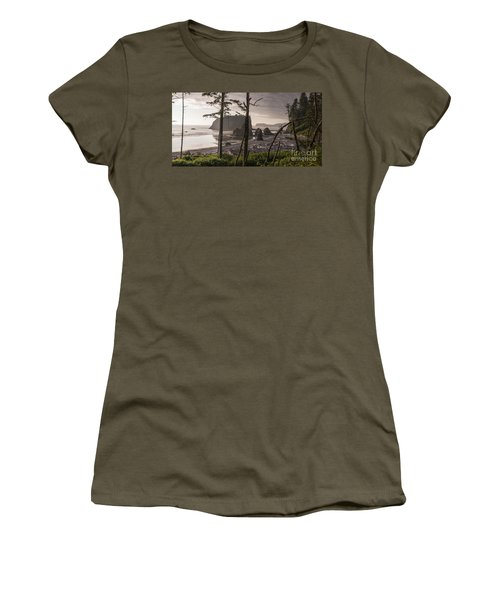 Ruby Beach Women's T-Shirt (Athletic Fit)