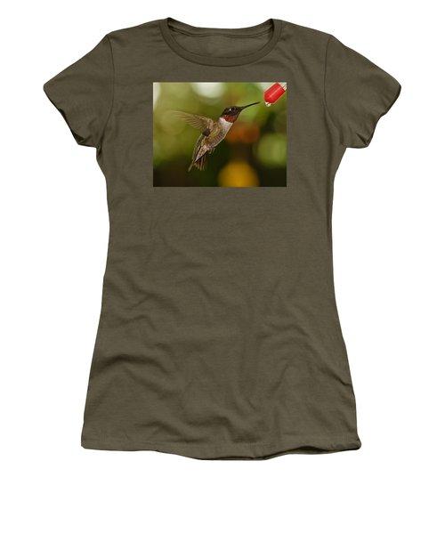 Ruby-throat Hummingbird Women's T-Shirt