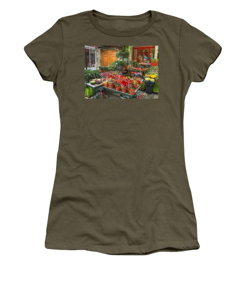 Rue Cler Flower Shop Women's T-Shirt (Athletic Fit)
