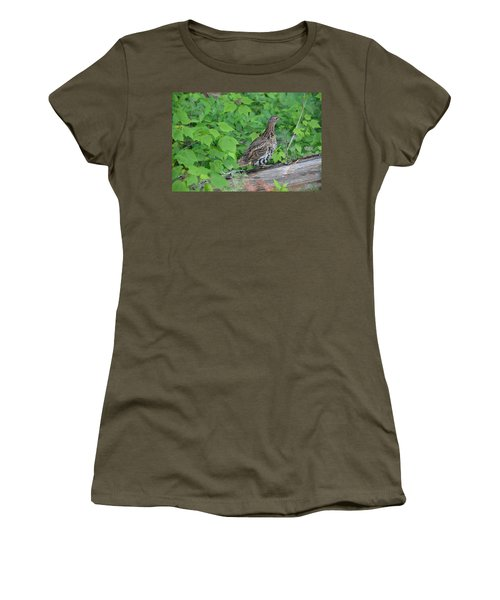 Ruffed Grouse Women's T-Shirt (Athletic Fit)