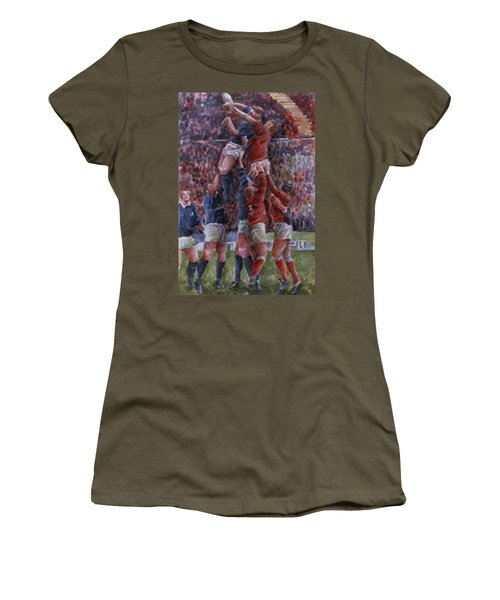 Rugby International, Wales V Scotland Wc On Paper Women's T-Shirt