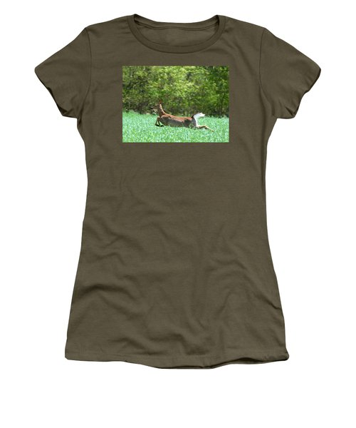 Women's T-Shirt (Junior Cut) featuring the photograph Run Forest Run by Neal Eslinger
