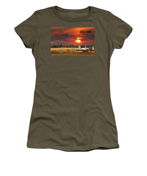 Women's T-Shirt (Junior Cut) featuring the photograph Rural Barns  My Book Cover by Randall Branham