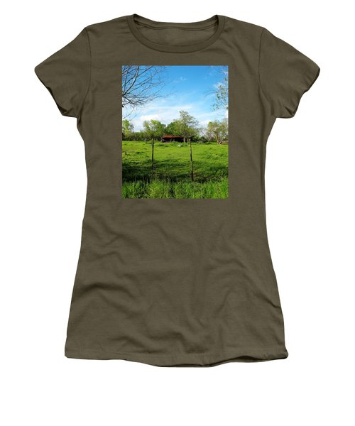 Rustic Land Of Beauty - Rural Texas Women's T-Shirt (Athletic Fit)