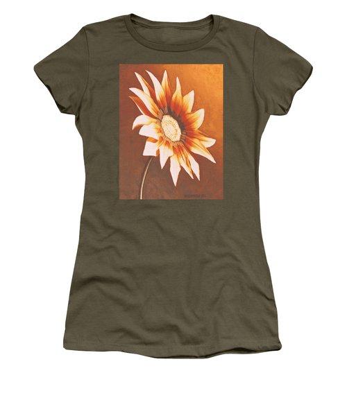 Rusty Gazania Women's T-Shirt (Junior Cut) by Sophia Schmierer