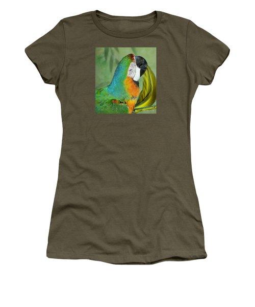 Salute I Am Blowing You A Kiss Women's T-Shirt (Junior Cut) by Lingfai Leung