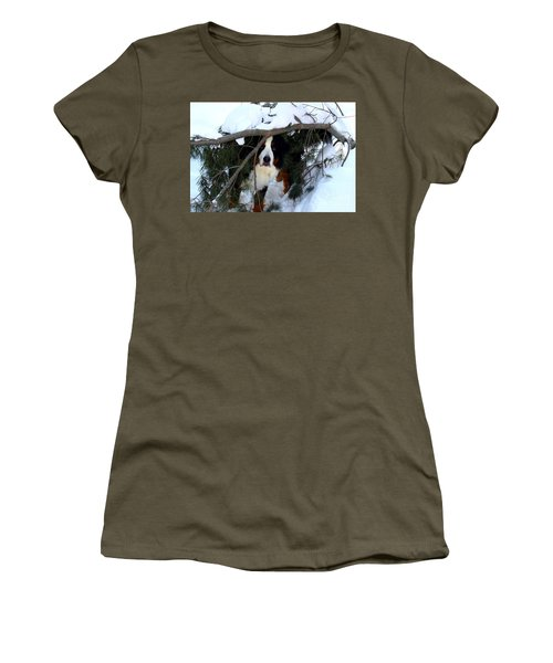 Women's T-Shirt (Junior Cut) featuring the photograph Sam And His Fort by Patti Whitten