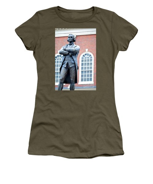 Samuel Adams Statue Massachusetts State House Women's T-Shirt