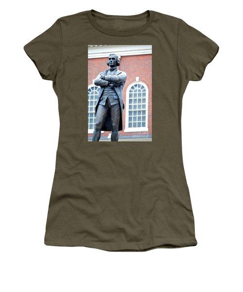 Samuel Adams Statue Massachusetts State House Women's T-Shirt
