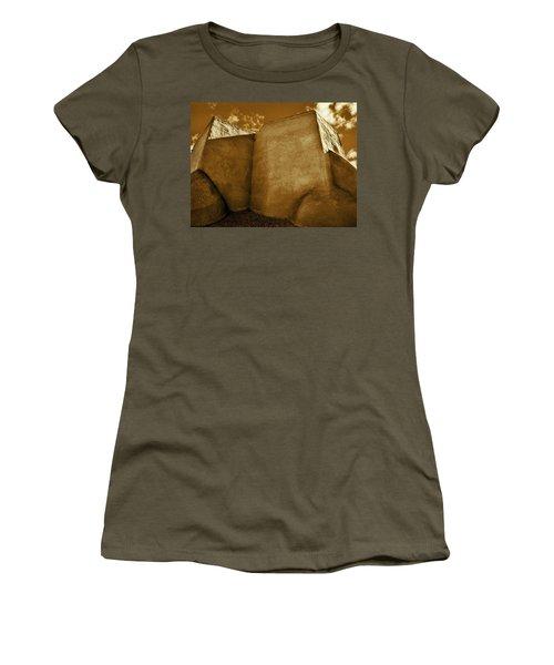 Women's T-Shirt (Junior Cut) featuring the photograph San Francisco De Asis Mission Church Taos II by John Hansen