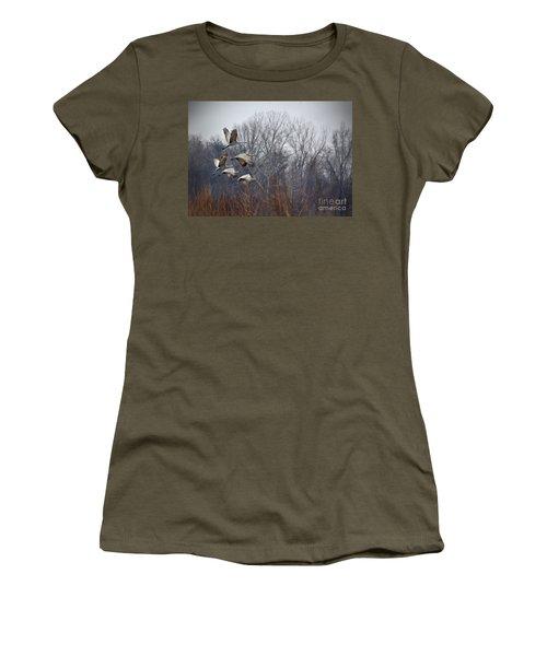 Sandhill Cranes Takeoff Women's T-Shirt