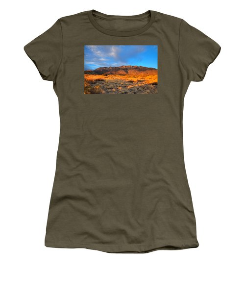 Sandia Crest Sunset Women's T-Shirt (Athletic Fit)