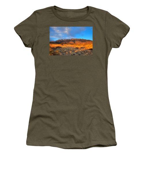 Sandia Crest Sunset Women's T-Shirt (Junior Cut) by Alan Vance Ley