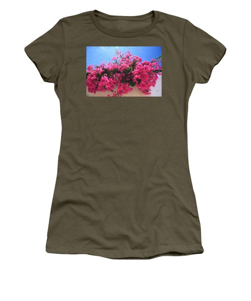Santorini Flowers Grk1113 Women's T-Shirt