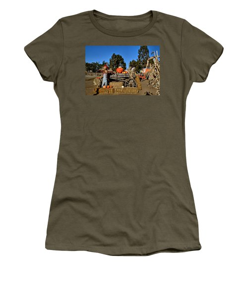 Women's T-Shirt (Junior Cut) featuring the photograph Scare Crow by Michael Gordon