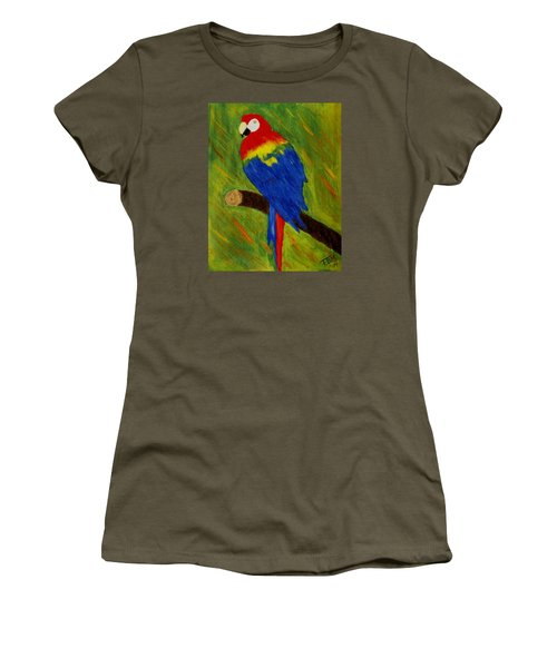 Scarlet Macaw Women's T-Shirt (Athletic Fit)