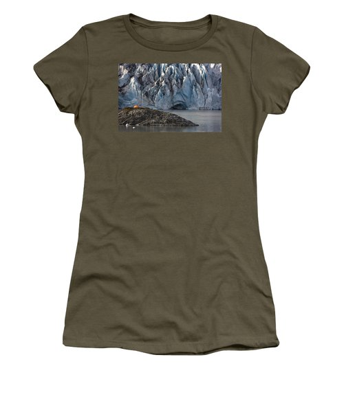 Scenic View Of Shoup Glacier With A Women's T-Shirt