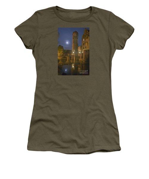 Schloss Sommersdorf By Moonlight Women's T-Shirt (Junior Cut) by Alan Toepfer