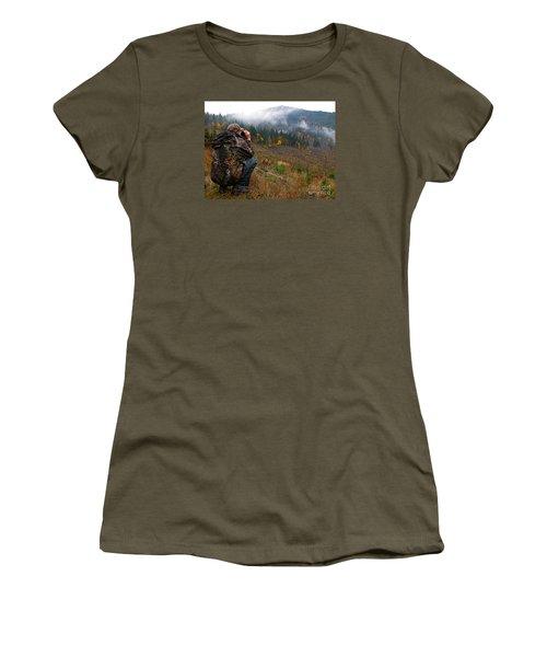 Women's T-Shirt (Junior Cut) featuring the photograph Scouting by Nick  Boren
