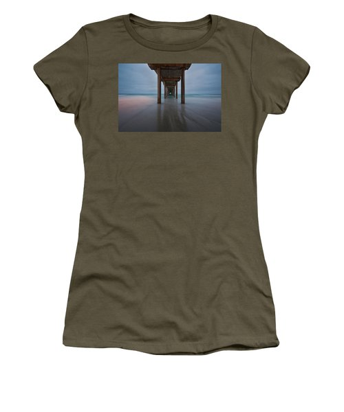 Scripps Pier Soft Blue Women's T-Shirt
