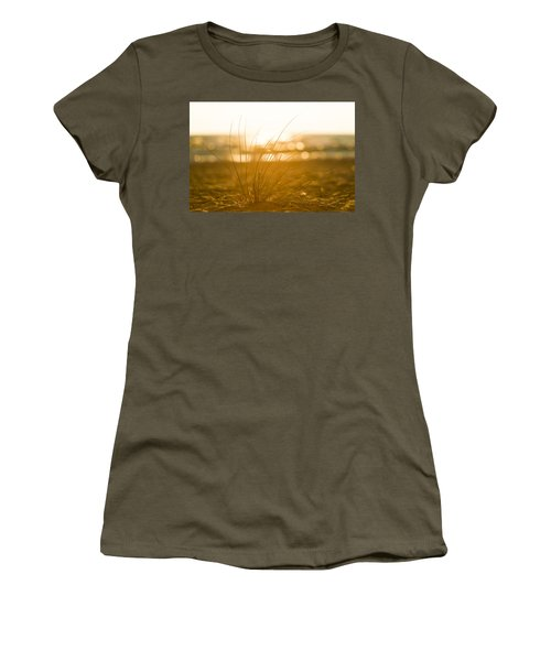 Women's T-Shirt (Athletic Fit) featuring the photograph Sea Oats Sunset by Sebastian Musial
